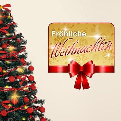 Graz Design Wandsticker Fröhliche Weihnachten