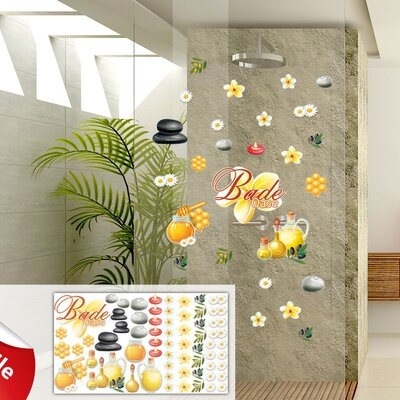 Graz Design Glastattoo-Set Bade Oase, Honig, Steine