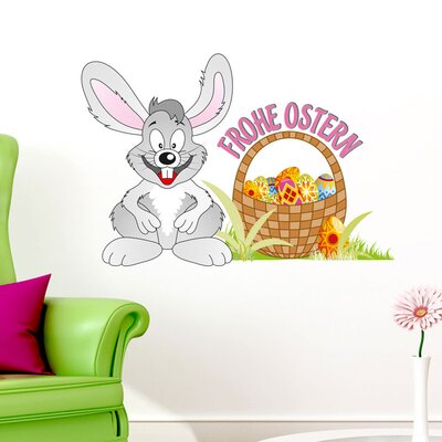 Graz Design Wandsticker Frohe Ostern, Osterhase, Eier