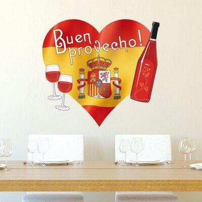 Graz Design Wandsticker Buen provecho!, Spanien, Flasche