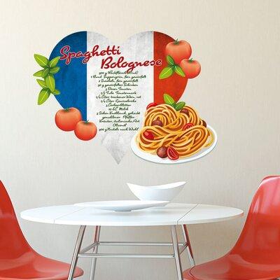 Graz Design Wandsticker Spaghetti Bolognese