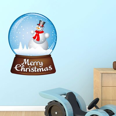 Graz Design Wandsticker Merry Christmas, Schneekugel