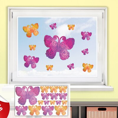 Graz Design Glastattoo-Set Schmetterlinge, Ornamente