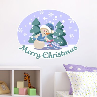 Graz Design Wandsticker Merry Christmas, Schnee