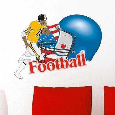 Graz Design Wandsticker Football, Helm