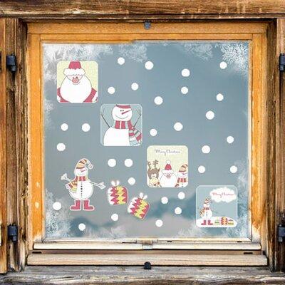 Graz Design Glastattoo Merry Christmas, Schneemann