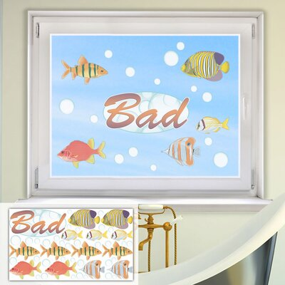 Graz Design Glastattoo-Set Bad, Fische, Blasen