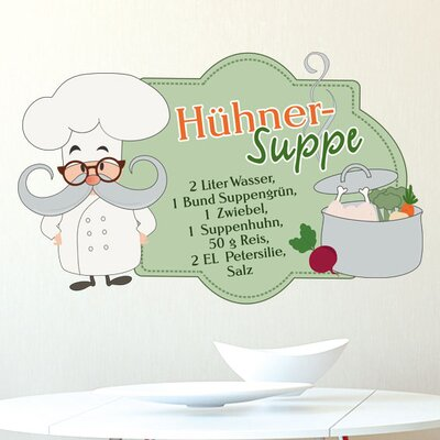 Graz Design Wandsticker Hühnersuppe, Koch, Zutaten