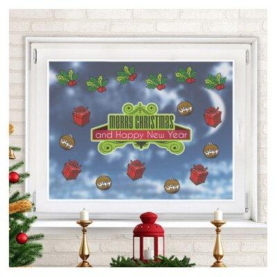 Graz Design Glastattoo Weihnachten, Merry Christmas and Happy New Year