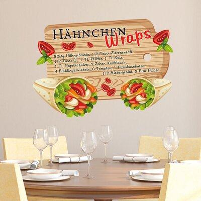 Graz Design Wandsticker Hähnchen, Wraps, Tomaten