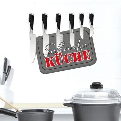 Graz Design Wandsticker Scharfe Küche, Messer, Brett