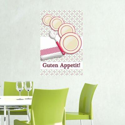 Graz Design Wandsticker Guten Appetit!, Teller, Löffel