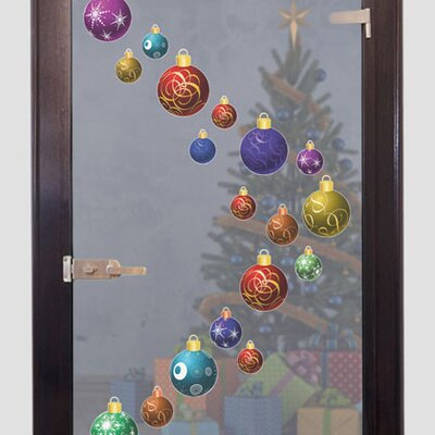 Graz Design Glastattoo Weihnachtskugeln, Baumschmuck