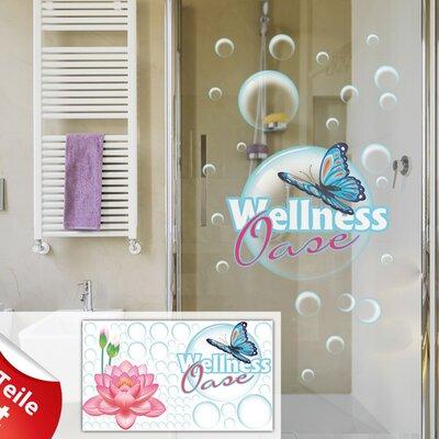 Graz Design Glastattoo-Set Wellness Oase, Blume
