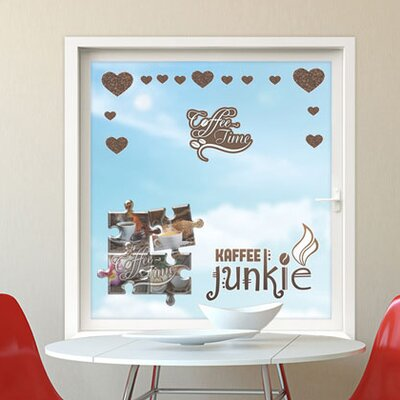 Graz Design Glastattoo Kaffee Junkie
