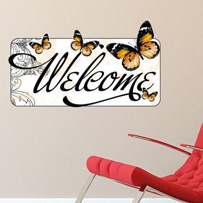Graz Design Wandsticker Welcome, Falter