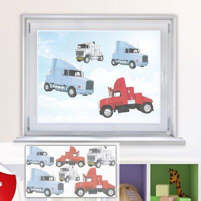 Graz Design Glastattoo-Set Lastkraftwagen