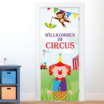 Graz Design Türaufkleber Willkommen im Circus