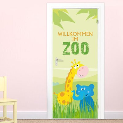 Graz Design Türaufkleber Willkommen im Zoo