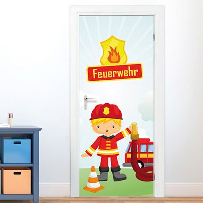 Graz Design Türaufkleber Feuerwehr