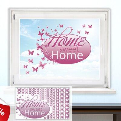 Graz Design Glastattoo-Set Home sweet Home, Falter