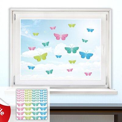 Graz Design Glastattoo-Set Schmetterlinge