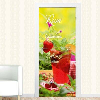 Graz Design Türaufkleber Rum, Erdbeeren