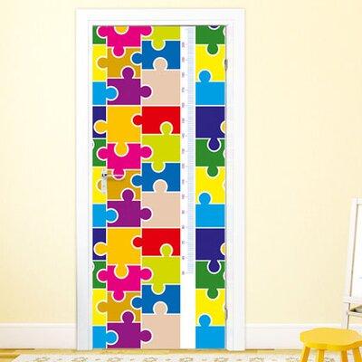 Graz Design Türaufkleber Puzzleteile, Maßband