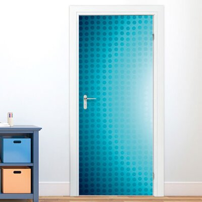 Graz Design Türaufkleber Punkte, Blautöne