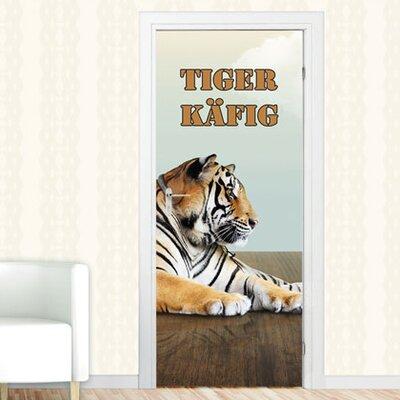 Graz Design Türaufkleber Tigerkäfig, Tiger