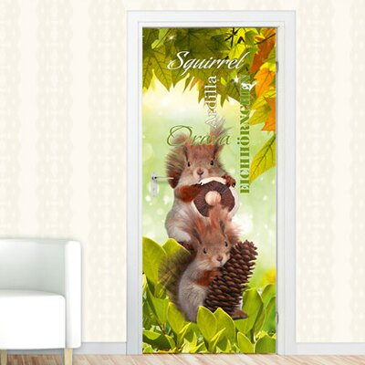 Graz Design Türaufkleber Eichhörnchen