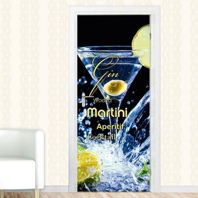 Graz Design Türaufkleber Martini Gin