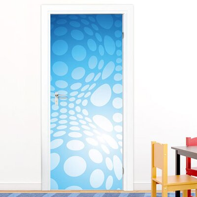 Graz Design Türaufkleber Blautöne, Punkte