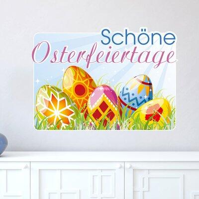 Graz Design Wandsticker Schöne Osterfeiertage, Eier
