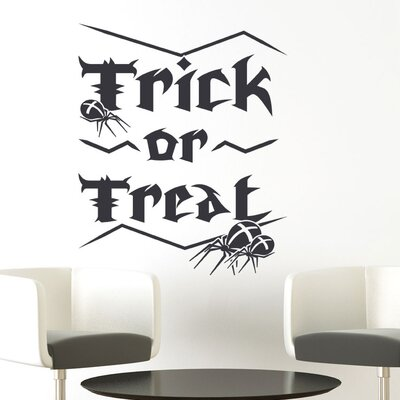 Graz Design Wandtattoo Trick or Treat, Spinnen