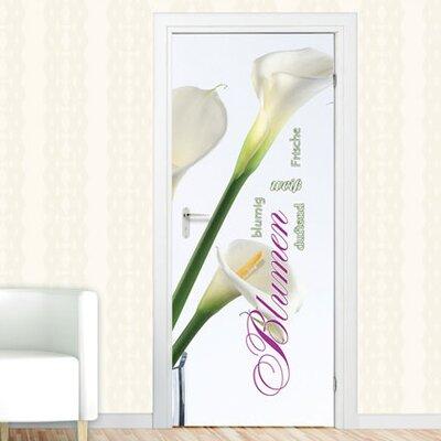 Graz Design Türaufkleber Blumen, weiß