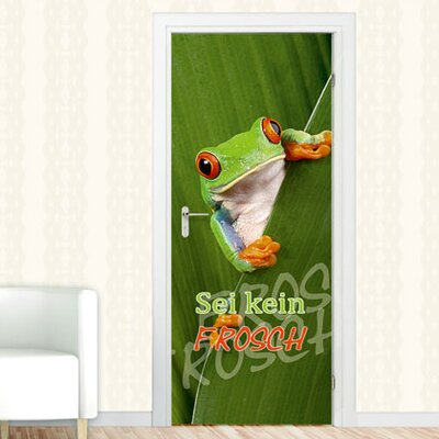 Graz Design Türaufkleber Sei kein Frosch