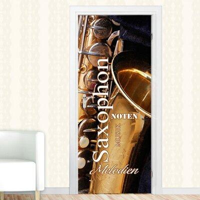 Graz Design Türaufkleber Saxophon, Instrument, Musik