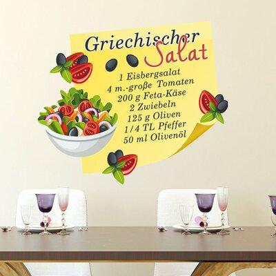 Graz Design Wandsticker Griechischer Salat, Tomaten