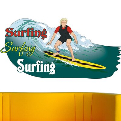 Graz Design Wandsticker Surfing, Surfer