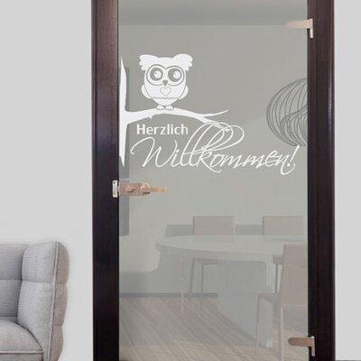 Graz Design Glastattoo Eule, Herzlich Willkommen