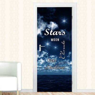 Graz Design Türaufkleber Stars, Moon, Night