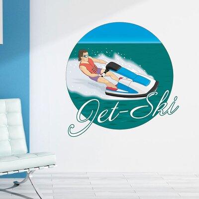 Graz Design Wandsticker Jet-Ski, Mann, Wasser