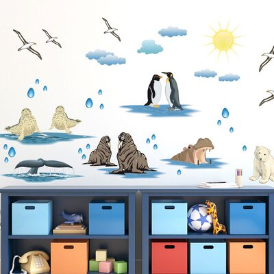 Graz Design Wandsticker-Set Pinguine, Seehunde, Möwen