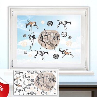 Graz Design Glastattoo-Set Afrika Antilopen, Jäger, Kreise