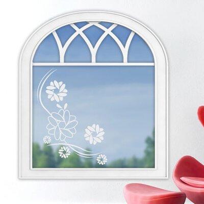 Graz Design Glastattoo Blumenornament