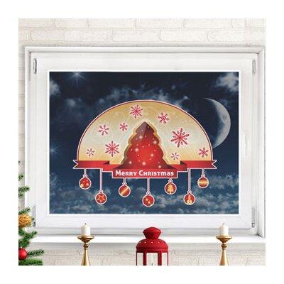 Graz Design Glastattoo Frohe Weihnachten, Christbaum