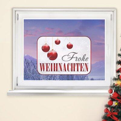 Graz Design Glastattoo Frohe Weihnachten, Kugeln