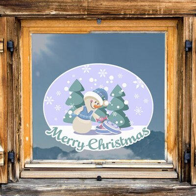 Graz Design Glastattoo Merry Christmas, Schnee, Tannen
