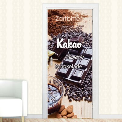 Graz Design Türaufkleber Kakao, Zartbitter
